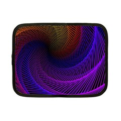Striped Abstract Wave Background Structural Colorful Texture Line Light Wave Waves Chevron Netbook Case (small)  by Mariart
