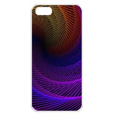 Striped Abstract Wave Background Structural Colorful Texture Line Light Wave Waves Chevron Apple Iphone 5 Seamless Case (white) by Mariart