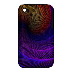 Striped Abstract Wave Background Structural Colorful Texture Line Light Wave Waves Chevron Iphone 3s/3gs by Mariart