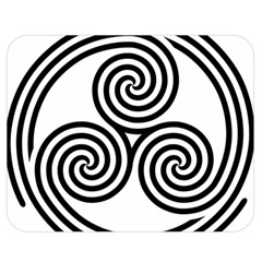 Triple Spiral Triskelion Black Double Sided Flano Blanket (medium)  by Mariart