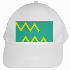 Waves Chevron Wave Green Yellow Sign White Cap by Mariart