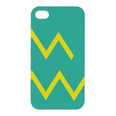 Waves Chevron Wave Green Yellow Sign Apple Iphone 4/4s Premium Hardshell Case by Mariart