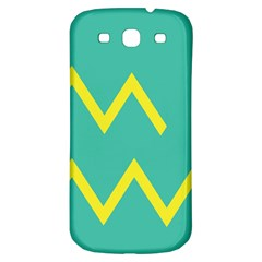 Waves Chevron Wave Green Yellow Sign Samsung Galaxy S3 S Iii Classic Hardshell Back Case by Mariart