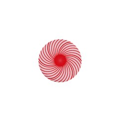 Spiral Red Polka Star 1  Mini Magnets by Mariart