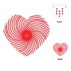 Spiral Red Polka Star Playing Cards (heart)  by Mariart
