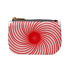 Spiral Red Polka Star Mini Coin Purses by Mariart