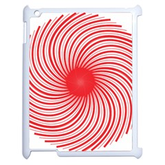 Spiral Red Polka Star Apple Ipad 2 Case (white) by Mariart