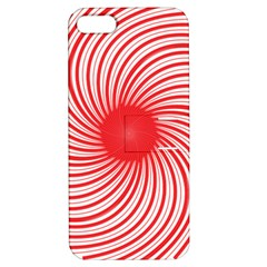 Spiral Red Polka Star Apple Iphone 5 Hardshell Case With Stand by Mariart