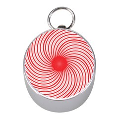 Spiral Red Polka Star Mini Silver Compasses by Mariart