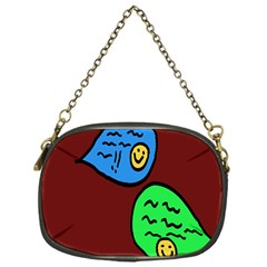 Version Colors Transparent Elements Emoticons Alpha Transparency Chain Purses (one Side)  by Mariart
