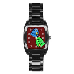 Version Colors Transparent Elements Emoticons Alpha Transparency Stainless Steel Barrel Watch by Mariart