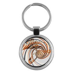 Splines Line Circle Brown Key Chains (round)  by Mariart
