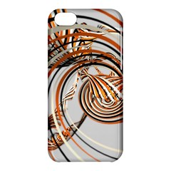 Splines Line Circle Brown Apple Iphone 5c Hardshell Case by Mariart