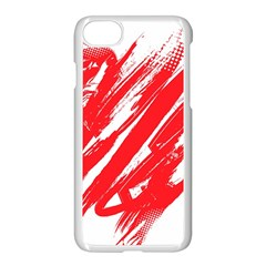 Valentines Day Heart Modern Red Polka Apple Iphone 7 Seamless Case (white) by Mariart