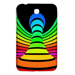 Twisted Motion Rainbow Colors Line Wave Chevron Waves Samsung Galaxy Tab 3 (7 ) P3200 Hardshell Case  by Mariart