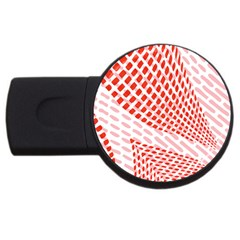 Waves Wave Learning Connection Polka Red Pink Chevron Usb Flash Drive Round (2 Gb) by Mariart