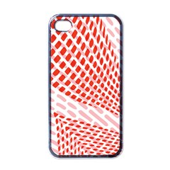 Waves Wave Learning Connection Polka Red Pink Chevron Apple Iphone 4 Case (black) by Mariart