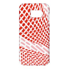Waves Wave Learning Connection Polka Red Pink Chevron Samsung Galaxy S7 Edge Hardshell Case by Mariart