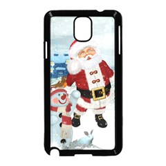 Funny Santa Claus With Snowman Samsung Galaxy Note 3 Neo Hardshell Case (black) by FantasyWorld7