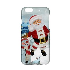 Funny Santa Claus With Snowman Apple Iphone 6/6s Hardshell Case by FantasyWorld7