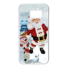 Funny Santa Claus With Snowman Samsung Galaxy S7 White Seamless Case by FantasyWorld7