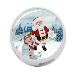 Funny Santa Claus With Snowman 4 Port Usb Hub (one Side) by FantasyWorld7