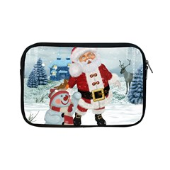 Funny Santa Claus With Snowman Apple Ipad Mini Zipper Cases by FantasyWorld7