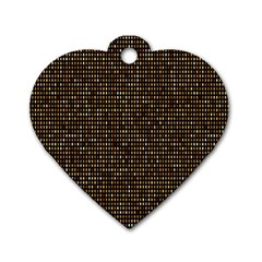 Mosaic Pattern 1 Dog Tag Heart (one Side) by tarastyle