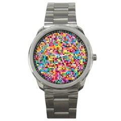 Mosaic Pattern 2 Sport Metal Watch by tarastyle