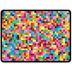 Mosaic Pattern 2 Fleece Blanket (large)  by tarastyle