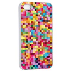 Mosaic Pattern 2 Apple Iphone 4/4s Seamless Case (white) by tarastyle