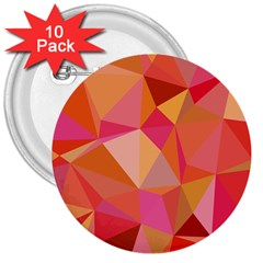Mosaic Pattern 3 3  Buttons (10 Pack)  by tarastyle