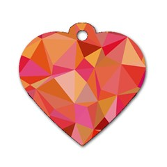 Mosaic Pattern 3 Dog Tag Heart (one Side) by tarastyle
