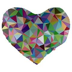 Mosaic Pattern 5 Large 19  Premium Flano Heart Shape Cushions by tarastyle