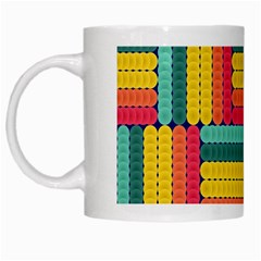 Soft Spheres Pattern White Mugs by linceazul