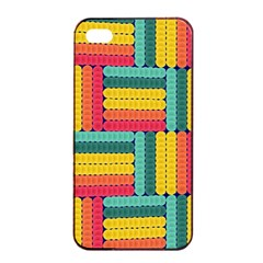 Soft Spheres Pattern Apple Iphone 4/4s Seamless Case (black) by linceazul