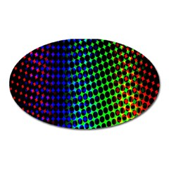 Digitally Created Halftone Dots Abstract Background Design Oval Magnet by Nexatart