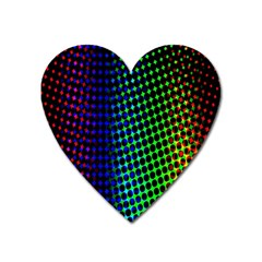 Digitally Created Halftone Dots Abstract Background Design Heart Magnet by Nexatart
