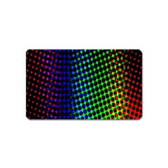 Digitally Created Halftone Dots Abstract Background Design Magnet (name Card) by Nexatart
