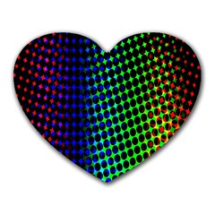 Digitally Created Halftone Dots Abstract Background Design Heart Mousepads by Nexatart