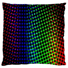 Digitally Created Halftone Dots Abstract Background Design Large Cushion Case (two Sides) by Nexatart