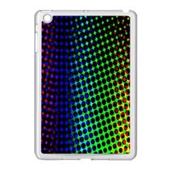 Digitally Created Halftone Dots Abstract Background Design Apple Ipad Mini Case (white) by Nexatart