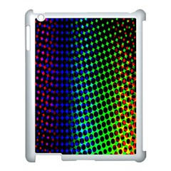 Digitally Created Halftone Dots Abstract Background Design Apple Ipad 3/4 Case (white) by Nexatart