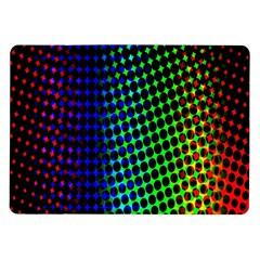Digitally Created Halftone Dots Abstract Background Design Samsung Galaxy Tab 10 1  P7500 Flip Case by Nexatart