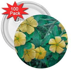 Yellow Flowers At Nature 3  Buttons (100 Pack)  by dflcprints