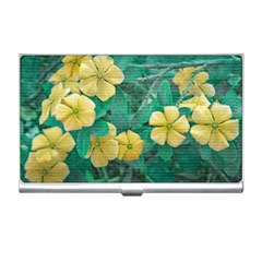 Yellow Flowers At Nature Business Card Holders by dflcprints