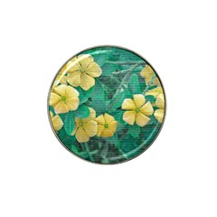 Yellow Flowers At Nature Hat Clip Ball Marker (4 Pack) by dflcprints