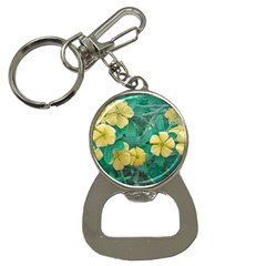 Yellow Flowers At Nature Button Necklaces by dflcprints