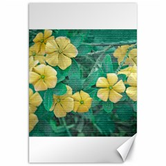 Yellow Flowers At Nature Canvas 20  X 30   by dflcprints