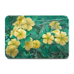 Yellow Flowers At Nature Plate Mats by dflcprints